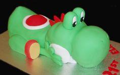 Yoshi Cake - by Nada's Cakes Canberra Yoshi, Cupcake Cakes, Cupcakes, Mario Party, Mario And Luigi, Super Mario Bros, Birthday Cakes, Deserts, Birthdays