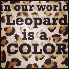 Leopard Is a Color