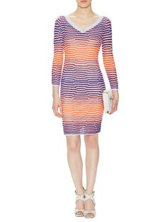 Techno Grid V-Neck Dress by M Missoni at Gilt
