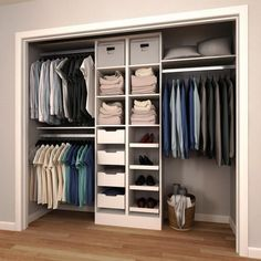 Closet Layout 715931671997593937 - 84 in. H x 60 in. to 120 in. W x 15 in. D White Melamine Reach-In Closet Kit Source by Bedroom Closet Design, Master Bedroom Closet, Wardrobe Design, Closet Designs, Master Bedrooms, Small Closet Design, Entryway Closet, Bedroom Wardrobe, Girls Bedroom