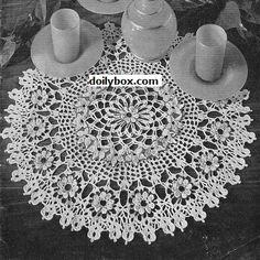 Free - Cosmos Crochet Doily Pattern