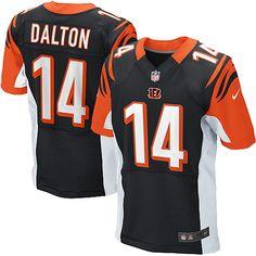 Nike Elite Men's Cincinnati Bengals #14 Andy Dalton Team Color Black NFL Jersey $129.99