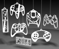 awesome controller christmas tree decorations. - WANT!!!