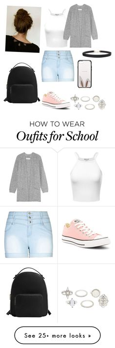 """Summer school"" by facummings on Polyvore featuring City Chic, Converse, Charlotte Russe, By Malene Birger, MANGO, Kate Spade, Humble Chic and plus size clothing"
