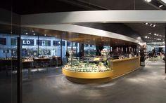Jegen AG: Globus Bars Planung & Produktion von:  Gastrobau, Gastrokonzepte, Restaurantkonzepte, Take Away, Freeflow, Vitrinen, Food Inseln, Küchenbau, Spezialanfertigungen, etc.
