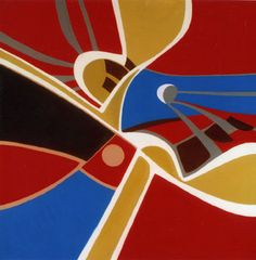 Lunar Eclipse, 2003. By Françoise Gilot (France, born 1921). Oil on canvas.