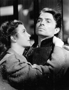 "James Mason and Kathleen Ryan in Odd Man Out, Carol Reed's 1947 masterwork  ""This may be Reed's most pretentious film, but it also happens to be one of his very best, beautifully capturing the poetry of a city at night."" -   Jonathan Rosenbaum, The Chicago Reader"