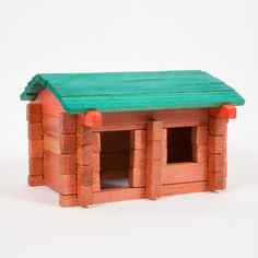 Like Lincoln Logs! Made in USA.