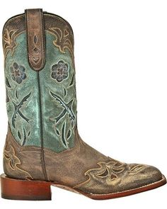 Dan Post Blue Bird Cowgirl Boots - Square Toe, Copper