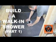 DIY Bathroom How to Build a Walk-In Shower (Part Wedi Shower Pan Install) — by Home Repair Tutor Tile Walk In Shower, Walk In Shower Designs, Shower Base, Diy Shower, Shower Ideas, Clean Shower, Shower Doors, Tile Showers, Shower Tips