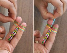 DIY Finger Fishtail Loom Bracelet