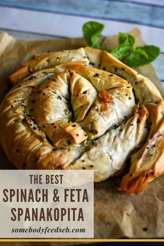 A lovely lighter vegetarian lunch or dinner that is packed full of spinach and feta! Creamy filling with the freshness of the mint and saltiness of feta won't disappoint, and the crispy golden brown filo pastry will add the needed crunch! A Traditional Spanakopita is definitely a winner on our lunch table! #spinachandfeta #easyspanakopita #filopastry #phyllopastry Spinach Feta Pie, Spanakopita Recipe, Vegetarian Pie, Summer Recipes, Easter Recipes, Lunch Table, Dinner This Week, Greek Recipes, Main Dishes