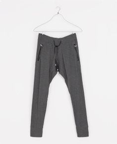 ZARA - MAN - TROUSERS WITH FAUX LEATHER PIPING