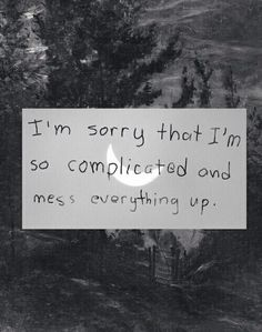 I'm sorry I mess up so often...