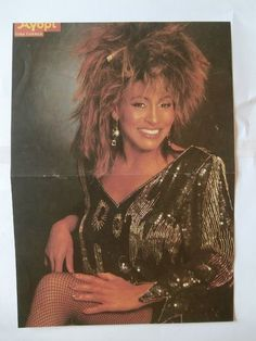 Tina Turner Madonna Lauper Poster from Greek Mags clippings 1970s 1990s | eBay