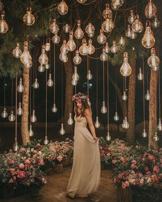 romantic wedding ideas with hanging bulbs wedding lights Breathtaking Outdoor Wedding Ideas to Love - Page 2 of 2 - Oh Best Day Ever Wedding Goals, Wedding Themes, Wedding Venues, Wedding Planning, Wedding Dresses, Decor Wedding, Whimsical Wedding Theme, Wedding Places, Wedding Quotes