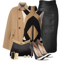 """Camel Coat"" by quirkyoak on Polyvore"