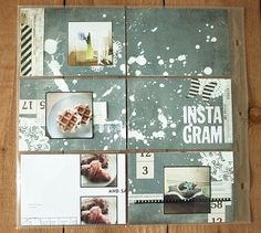 "Create a cohesive background ""page"" and then cut it up for pockets."