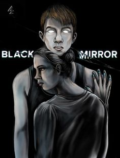 Illustration based on Charlie Brooker's series, Black Mirror.  Episode One, Be Right Back starred Hayley Atwell and Domhnall Gleeson.