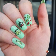 Simple Nail Art Designs, Easy Nail Art, Fruit Nail Art, Art Shed, Nail Stamping Plates, Swatch, Layers, Nails, Link