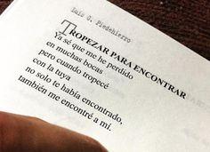 """Tropezar para encontrar (Dentro de """"Si aquel día me hubieras mirado"""", de Luis G. Piedehierro)."""
