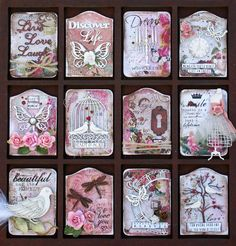 ATC,s on printer tray Atc Cards, Journal Cards, Junk Journal, Wooden Shadow Box, Movie Prints, Pocket Letters, Artist Trading Cards, Altered Art, Letterpress