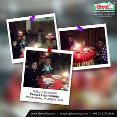 Our Guests enjoying candle light dinner at Himachal Pradesh tour..!!
