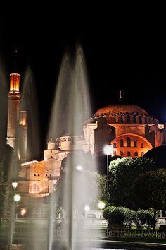 Hagya Sofia and the fountains - Istanbul, Istanbul