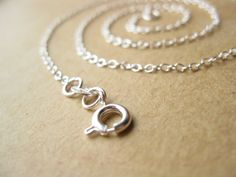 Mothers Day Sale Delicate Necklace 20 inch Sterling Silver Chain with Spring Ring Clasp
