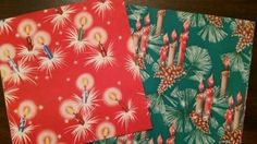 large lot various vintage CHRISTMAS wrapping paper 1950's Benmont, Santa (11/15/2014)