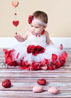 Valentines Day Rose Petal Tutu Dress Rose por MyPrincessTutuBoutiq