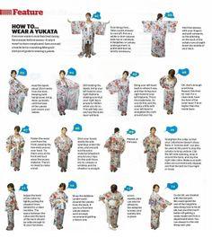 Poster for how to wear yukata | ラミジャパン Lami Japan ラミ日本