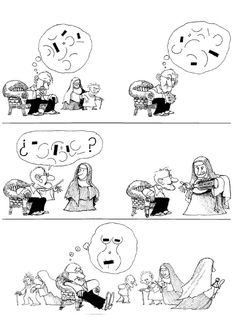 Quino - ¡Cuánta bondad! (How Much Goodness!, 1999) Lucky Luke, Humor Grafico, Amazing Adventures, Funny Comics, Comic Strips, Vignettes, Illustrators, Illusions, Comedy