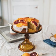 citrus and honey olive oil cake Recipe on Sweet Recipes, Cake Recipes, Dessert Recipes, Olive Oil Cake, Cake Tins, Round Cakes, How Sweet Eats, Food 52, Easy Desserts