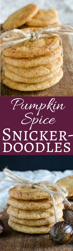 Pumpkin Spice Snickerdoodles | Garlic & Zest