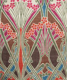 Brown Ianthe Print Linen Union, Liberty Furnishing Fabrics Very fab fab! Textiles, Textile Patterns, Textile Prints, Textile Design, Print Patterns, Liberty Art Fabrics, Liberty Print, Art Nouveau, Arts And Crafts Movement