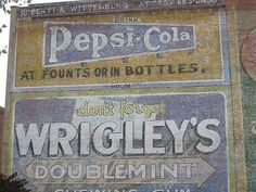 sadly, these old signs are gone now....