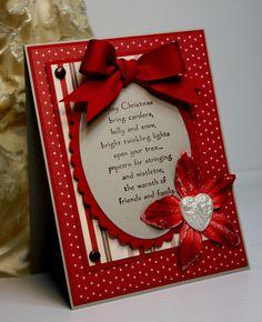 Christmas Card - Handmade Greeting Card - Holiday Card -  OOAK. $3.75, via Etsy.