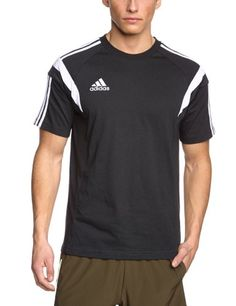 adidas Herren T-Shirt Condivo 14, Black White, S, F76964