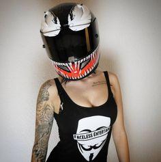 HJC Marvel Spiderman Venom Motorcycle Helmet and Misses_black 7