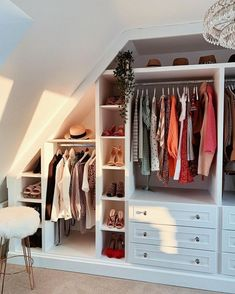 [New] The 10 Best Home Decor (with Pictures) - Serious wardrobe envy from Attic Bedroom Closets, Attic Bedroom Storage, Attic Bedroom Small, Loft Storage, Attic Closet, Bedroom Wardrobe, Attic Rooms, Built In Wardrobe, Bedroom Loft