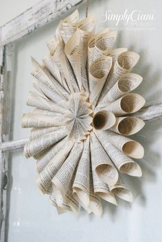 Simply Ciani: DIY Vintage Book Page Wreath...awesome tutorial <3