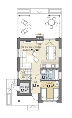 Modern House Floor Plans, My House Plans, Small House Plans, Modern House Design, Cabin, Flooring, How To Plan, Home, Attic