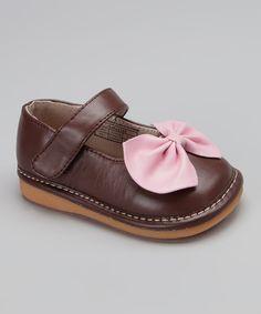 Hide & Squeek Light Pink & Brown Squeaker Mary Jane $20