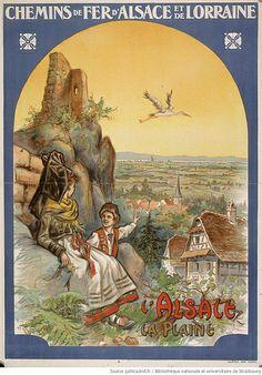 Lorraine. L'Alsace, la plaine, Chemins de fer d'Alsace et de aul Kauffmann, Chemins de fer d'Alsace et de Lorraine
