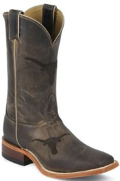 Nocona Mens Cowboy Boots Ponteggio Leather University of Texas BootCity.com