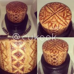 Tongan Design Cake,  Decorated by @cukeek Caitlin Latu 2016