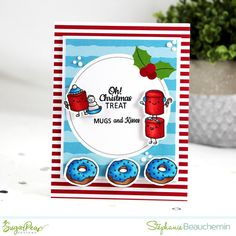 """Are you one of those that always says """"This year I'll get an early start on making my holiday cards! Christmas Cards 2017, Christmas Scrapbook, Diy Christmas Gifts, Christmas Treats, Simple Christmas, Handmade Christmas, Holiday Cards, Embossed Cards, Clear Stamps"""