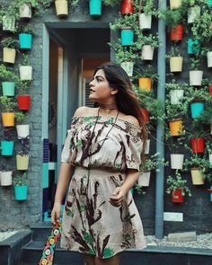 Bringing out my boho vibes with this earthy off shoulder dress from on Outfit Goals, Outfit Ideas, Kritika Khurana, Picture Ideas, Photo Ideas, Boho Girl, Indian Wear, Earthy, Desi