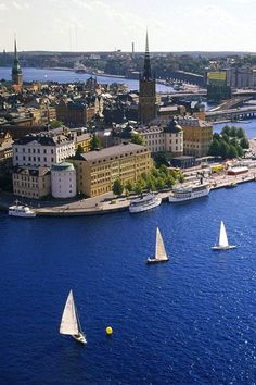"""Gamla stan is known as """"the Town between the Bridges"""" and is the old town of Stockholm, Sweden. Finland Travel, Sweden Travel, Oh The Places You'll Go, Places To Travel, Voyage Suede, Sweden Places To Visit, Scandinavian Countries, Stockholm Sweden, Stockholm Travel"""